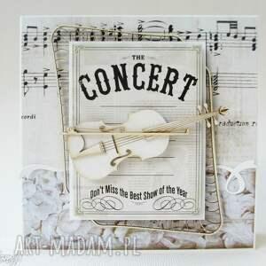 frapujące scrapbooking kartki skrzypce kartka ze skrzypcami