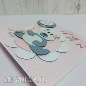 białe scrapbooking kartki pluszak kartka/zaproszemie z ukochanym