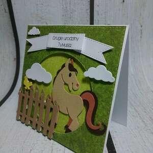koń scrapbooking kartki brązowe kartka/zaproszenie dla miłośnika