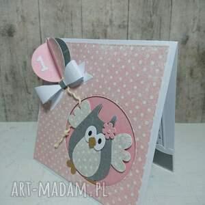 białe scrapbooking kartki sowa kartka/zaproszenie