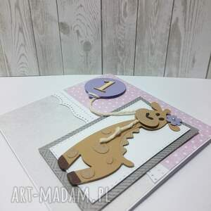 eleganckie scrapbooking kartki żyrafa kartka/zaproszenie