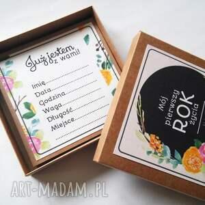 scrapbooking kartki kwiaty karty do zdjęć mój pierwszy rok