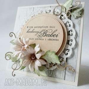 oryginalne scrapbooking kartki babcia kochanej babci