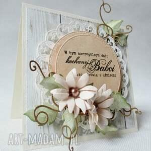 szare scrapbooking kartki życzenia kochanej babci
