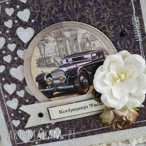 brązowe scrapbooking kartki dzień-ojca kochanemu tacie