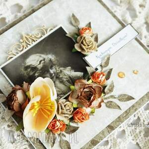 beżowe scrapbooking kartki dzień-babci kochanym dziadkom (kartka w