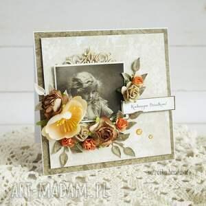 babcia-i-dziadek scrapbooking kartki brązowe kochanym dziadkom (kartka w