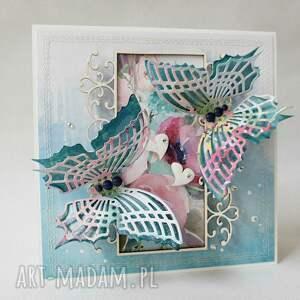 różowe scrapbooking kartki mama kolorowe motyle