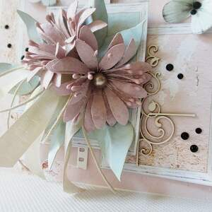 gratulacje scrapbooking kartki kolorowo - w pudełku