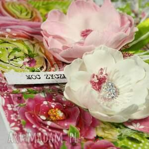 kartka scrapbooking kartki różowe kolory lata