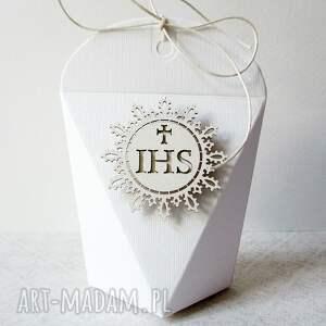 wyjątkowe scrapbooking kartki życzenia komunia - pudełeczka
