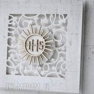 scrapbooking kartki zaproszenie komunia - 15 sztuk