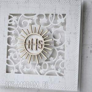 scrapbooking kartki zaproszenie komunia - 10 sztuk