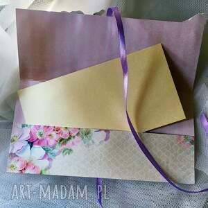 unikalne scrapbooking kartki ślub koperta na życzenia i pieniądze
