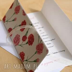 czerwone scrapbooking kartki ślubna kartka ręcznie wykonana z wysokiej jakości