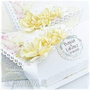 różowe scrapbooking kartki kopertówka ślubna