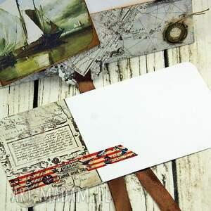 modne scrapbooking kartki dla kopewrtówka męska- rejs