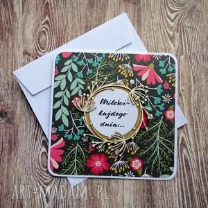 efektowne scrapbooking kartki ślub kwiecista miłość