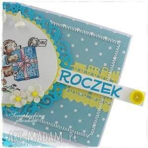 żółte scrapbooking kartki roczek mam - kartka urodzinowa dla