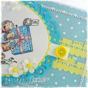 hand-made scrapbooking kartki chłopiec mam roczek - kartka urodzinowa dla