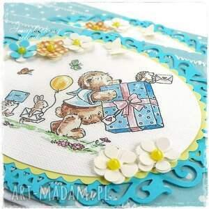 hand-made scrapbooking kartki guzik mam roczek - kartka urodzinowa dla