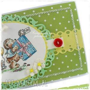 urodziny scrapbooking kartki zielone projekt autorski. śliczna kartka urodzinowa