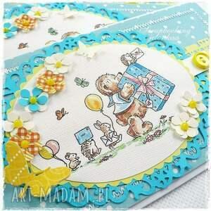 scrapbooking kartki guzik mam roczek - kartka urodzinowa dla