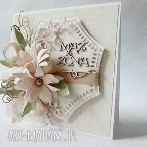 scrapbooking kartki życzenia mąż & żona - kartka w pudełku