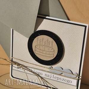 scrapbooking kartki: Męska kartka urodzinowa wąsik