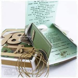 jelonkaa scrapbooking kartki pudełko militarna koszula - kartka