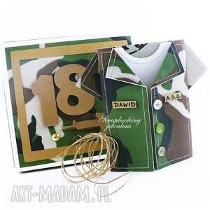 jelonkaa Militarna koszula - kartka - pudełko osiemnastka