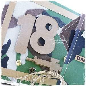 jelonkaa niekonwencjonalne scrapbooking kartki pudełko projekt autorski. kartka dla mężczyzny