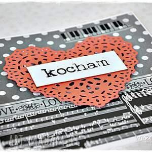 gustowne scrapbooking kartki kartka miłość jak z nut...kartka