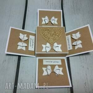 hand-made scrapbooking kartki pudełeczko minimalistyczny eko exploding box