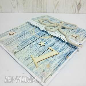 handmade scrapbooking kartki kartka morskie klimaty na pierwsze