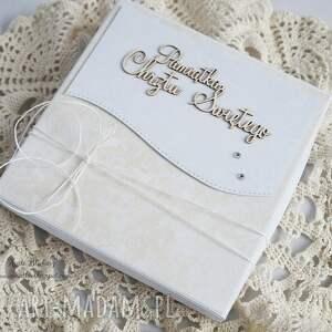 beżowe scrapbooking kartki chrzest na - z biał&#261