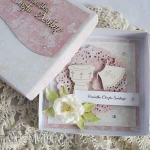 gustowne scrapbooking kartki chrzest-święty na chrzest - z białą szatką