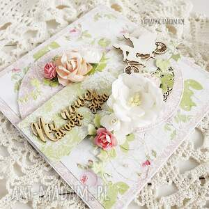 ślub scrapbooking kartki białe na nowej drodze życia. Kartka