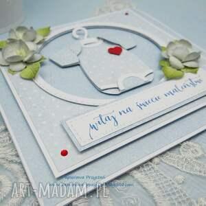 frapujące scrapbooking kartki niemowlę na powitanie dla maleństwa - z