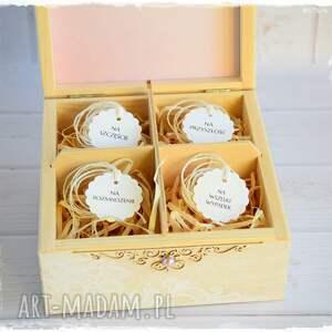 niesztampowe scrapbooking kartki niezbędnik małżeński pudełko