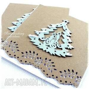 pomysł na świąteczny prezent choinka oczekiwanie - kartka