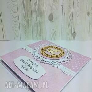 białe scrapbooking kartki chrzest pamiątka chrztu świętego