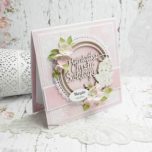 eleganckie scrapbooking kartki pamiątka chrztu dla dziewczynki
