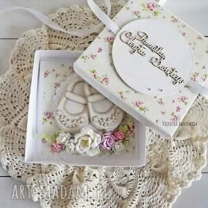 chrzciny scrapbooking kartki różowe pamiątka chrztu dziewczynki, 534