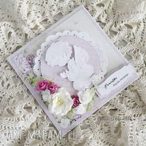 białe scrapbooking kartki chrzciny pamiątka chrztu św. Kartka
