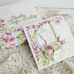 białe scrapbooking kartki chrzciny pamiątka chrztu dziewczynki, 488