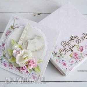 białe scrapbooking kartki chrzciny pamiątka chrztu św.