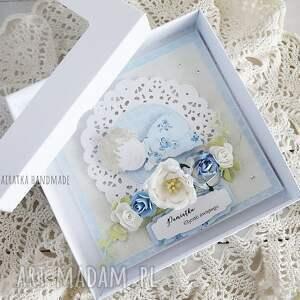 handmade scrapbooking kartki chrzest pamiątka chrztu św - kartka