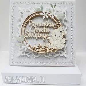 oryginalne scrapbooking kartki chrzest pamiątka chrztu - w pudełku