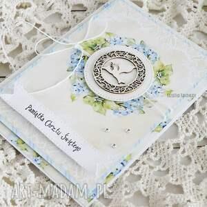 hand-made scrapbooking kartki chrzest pamiątka chrztu świętego, 260